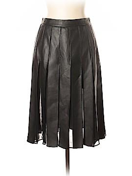 Diane von Furstenberg Leather Skirt Size 10