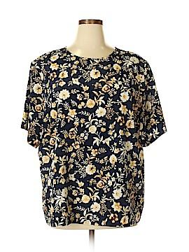 Kathie Lee Short Sleeve Blouse Size 24W (Plus)