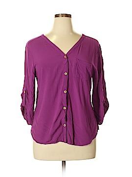 Dots 3/4 Sleeve Blouse Size 1X (Plus)