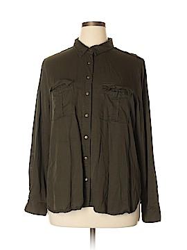 City Chic Long Sleeve Button-Down Shirt Size 16 Plus (S) (Plus)