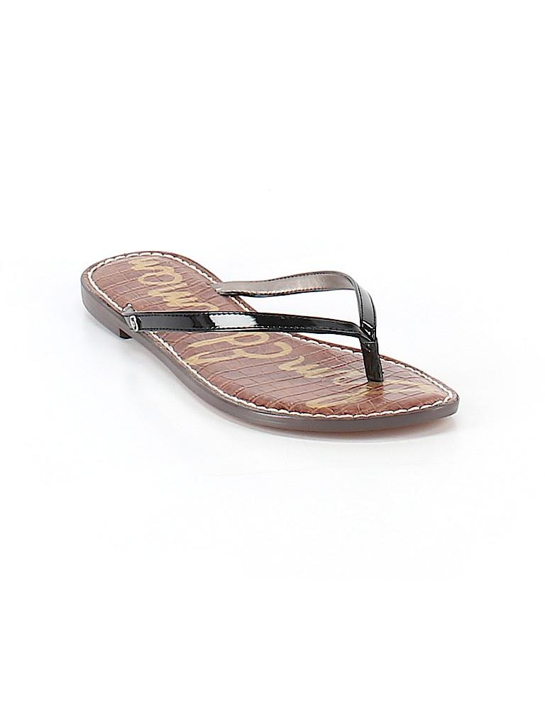 9efedd62d9d776 Sam Edelman Solid Black Flip Flops Size 9 1 2 - 60% off