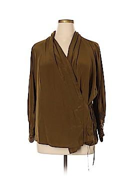 Roberto Cavalli Long Sleeve Silk Top Size 46 (IT)