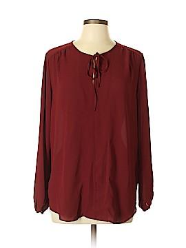 Joan Vass Long Sleeve Blouse Size L