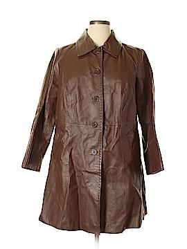 Jessica London Leather Jacket Size 14
