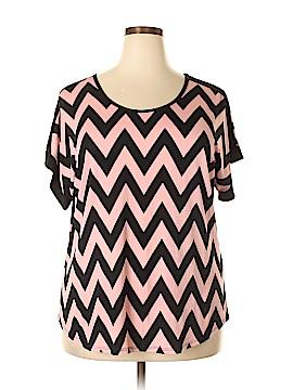 Carol Rose Short Sleeve Top Size 2X (Plus)