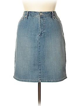 Nine West Vintage America Denim Skirt Size 14