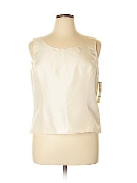 Kasper Sleeveless Silk Top Size 16