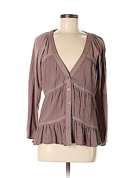 ...Trinity 3/4 Sleeve Button-Down Shirt Size M