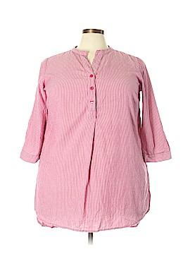 Ellos 3/4 Sleeve Button-Down Shirt Size 18 - 20 (Plus)