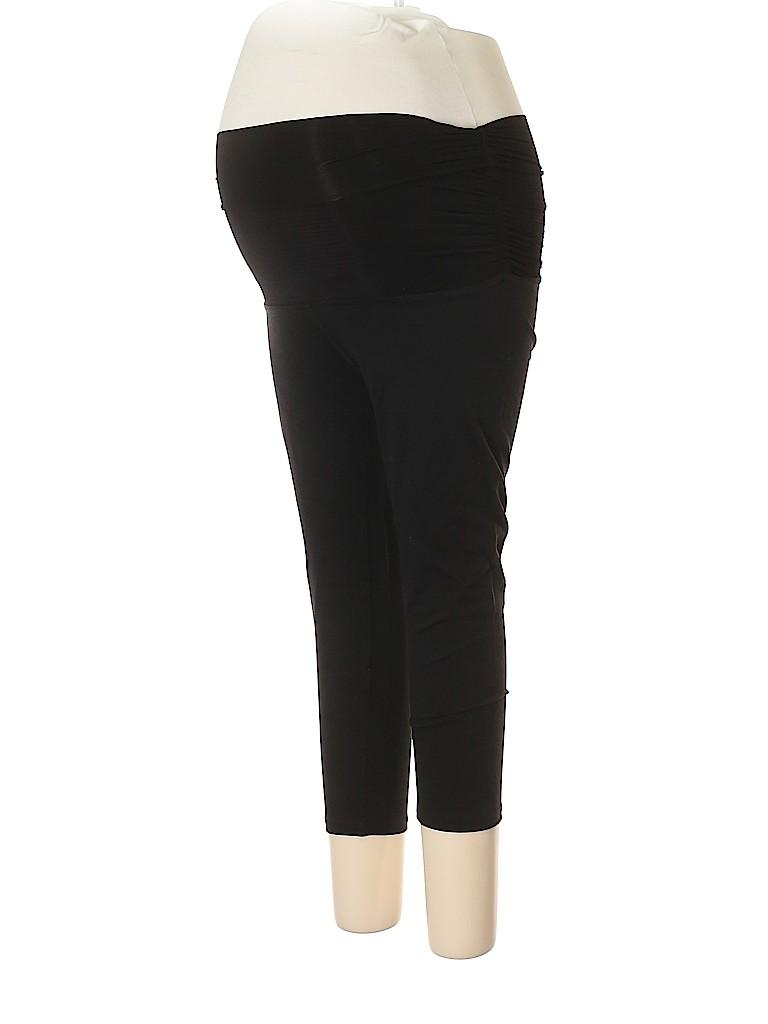 b377ed8cc2b758 Beyond the Bump by Beyond Yoga Solid Black Yoga Pants Size XL ...