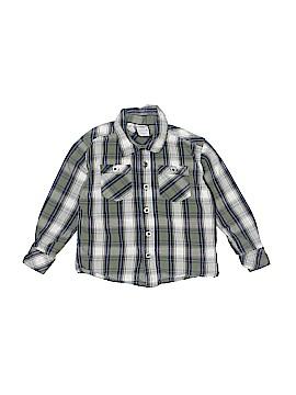 Toughskins Long Sleeve Button-Down Shirt Size 2T