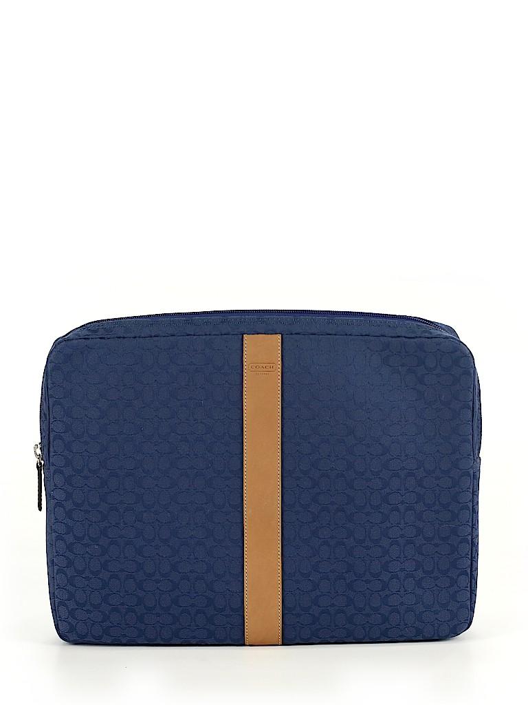 Coach Print Dark Blue Laptop Bag One Size - 79% off  e496bf38ae422