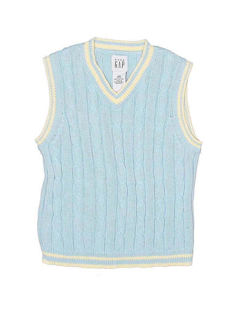 809d92fc0 Baby Gap 100% Cotton Stripes Light Blue Sweater Vest Size 4 - 80 ...