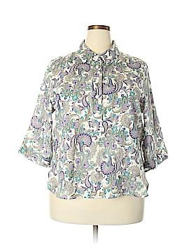 Rebecca Malone 3/4 Sleeve Button-Down Shirt Size 1X (Plus)