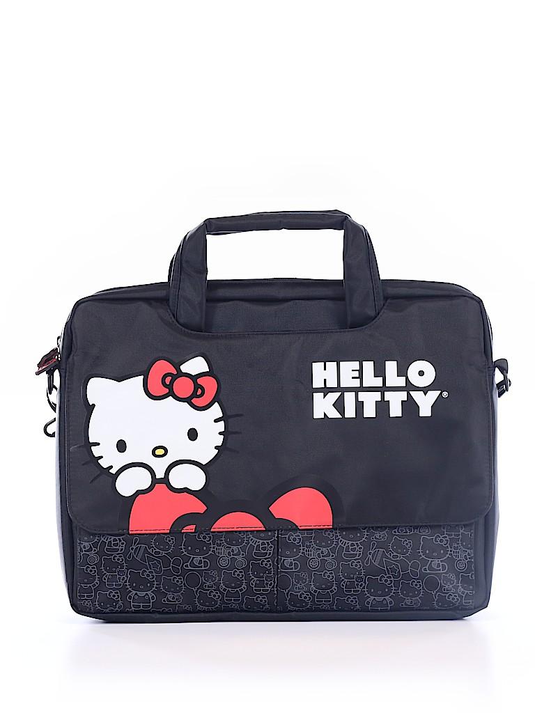 9e86e5938bb3 Hello Kitty 100% Polyester Graphic Black Laptop Bag One Size - 35 ...