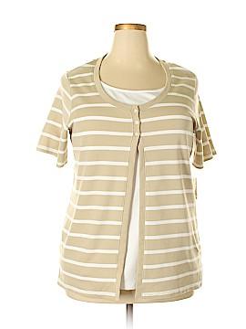 Allison Daley Short Sleeve Top Size 2X (Plus)