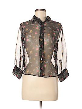 Dolce & Gabbana Long Sleeve Silk Top Size 42 (IT)