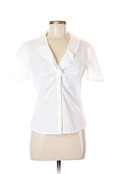 Armani Collezioni Short Sleeve Button-Down Shirt Size 8