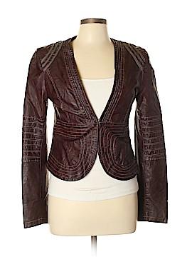 Custo Barcelona Faux Leather Jacket Size Lg (4)