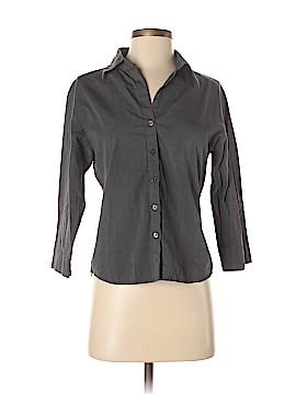 Krazy Kat 3/4 Sleeve Button-Down Shirt Size M