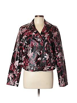 CATHERINE Catherine Malandrino Faux Leather Jacket Size XL