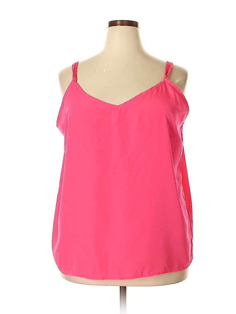 Derek Heart Women Sleeveless Blouse Size 3X (Plus)