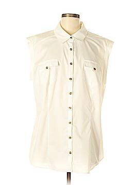 W by Worth Sleeveless Button-Down Shirt Size 1X (Plus)