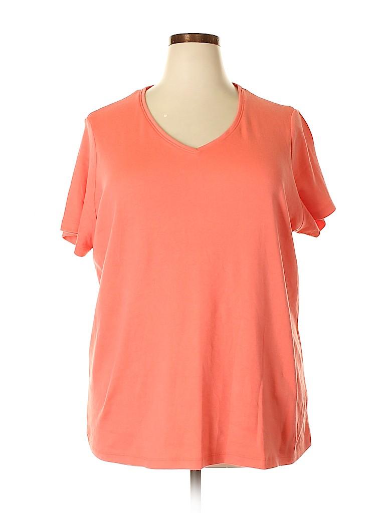 Falls Creek Women Short Sleeve T-Shirt Size 2X (Plus)