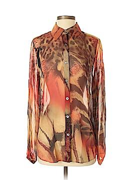 Da-Nang Long Sleeve Silk Top Size S