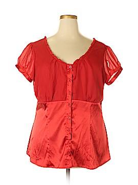 MKM Designs Short Sleeve Blouse Size 2X (Plus)