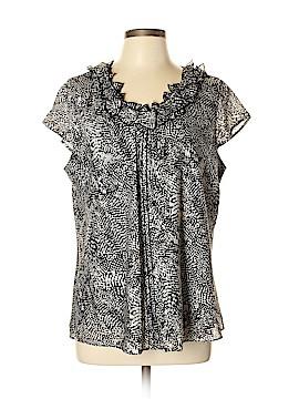 AK Anne Klein Short Sleeve Blouse Size XL