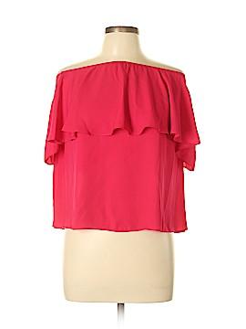 Mumu Mellow Short Sleeve Blouse Size L