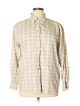 Kathie Lee Long Sleeve Silk Top Size 16