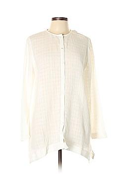 Purejill Long Sleeve Button-Down Shirt Size M