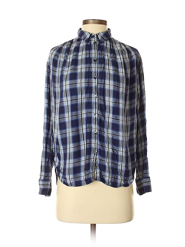 Madewell Women Long Sleeve Button-Down Shirt Size S