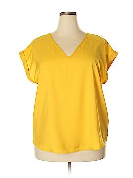 7th Avenue Design Studio New York & Company Short Sleeve Blouse Size XXL