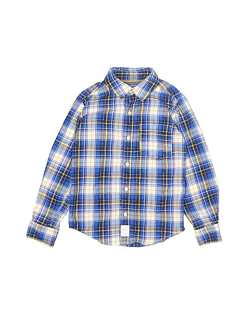 Carter's Boys Long Sleeve Button-Down Shirt Size 5