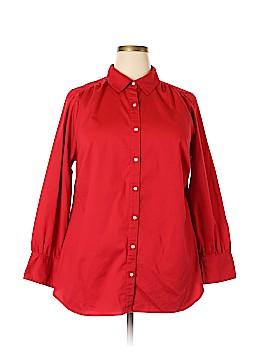 Avenue Long Sleeve Button-Down Shirt Size 18 - 20 Plus (Plus)