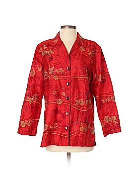 Chico's Design 3/4 Sleeve Silk Top Size Sm (0)