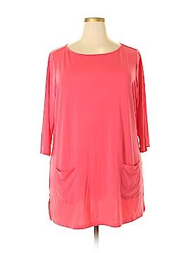 Joan Rivers 3/4 Sleeve Top Size 1X (Plus)