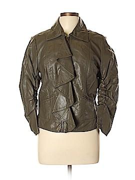 Jolt Faux Leather Jacket Size L