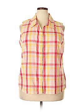 Cherokee Sleeveless Button-Down Shirt Size 18 (Plus)
