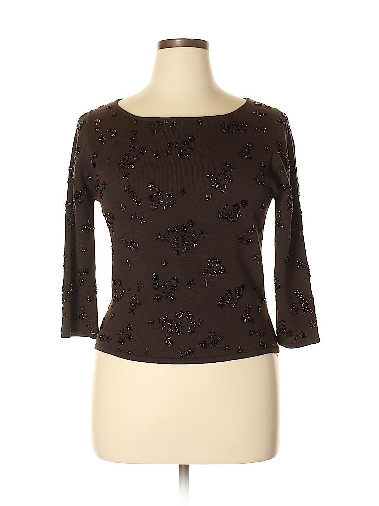 Carmen Marc Valvo Collection Women Long Sleeve Top Size XL