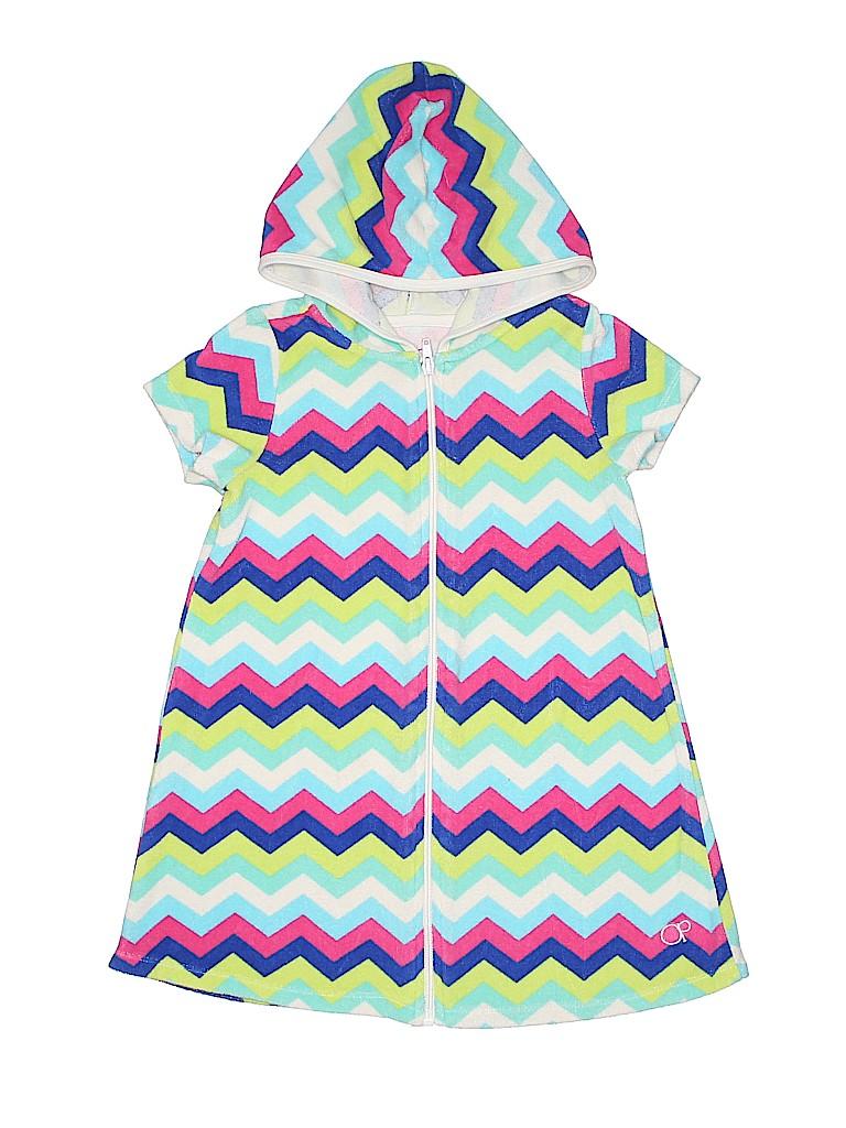 422a113e76e1c Op 100% Polyester Chevron Herringbone Blue Swimsuit Cover Up Size 6 ...