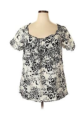 Allison Taylor Short Sleeve Blouse Size 1X (Plus)