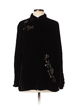 Carole Little Long Sleeve Silk Top Size L