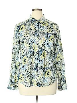 Villager Sport by Liz Claiborne Long Sleeve Button-Down Shirt Size 16