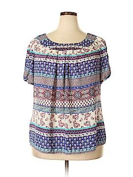 CB Short Sleeve Blouse Size 2X (Plus)