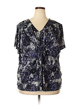 Daisy Fuentes Short Sleeve Top Size 3X (Plus)