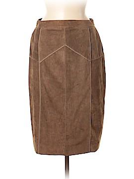 Carolina Herrera Leather Skirt Size 8
